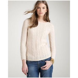 🌿 J. Crew | Dolce Cable Knit Wool Hair Sweater